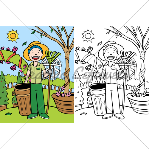 500x500 Yard Work Clipart