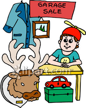 280x350 Royalty Free Clip Art Image Boy Having A Garage Sale