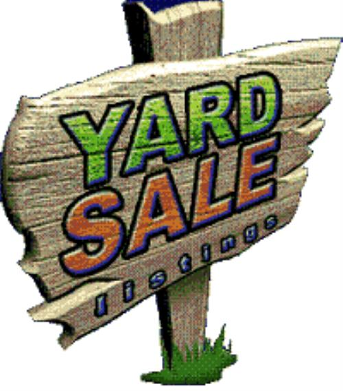 500x570 Sale Multi Family Yard Clipart