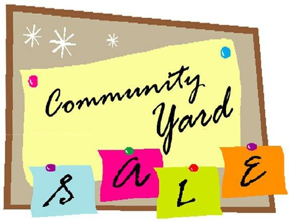 573x439 Multi Family Yard Sale Clip Art