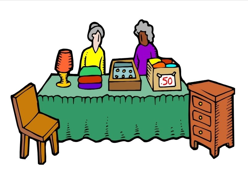 800x600 Clip Art Garage Sale Furniture Clipart Free Download