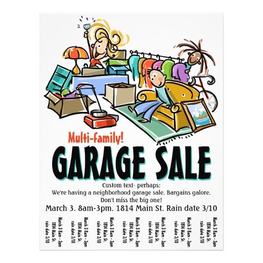540x540 Garage Sale. Moving Sale. Yard Sale Custom Flyer Custom Flyers