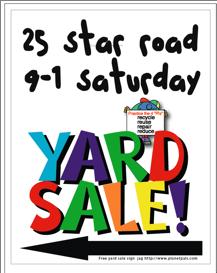 217x273 Yard Sale Sign Ideas