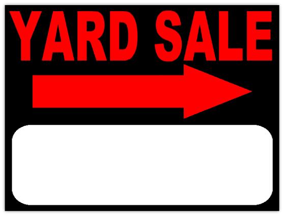 558x424 Yard Sale Sign Template