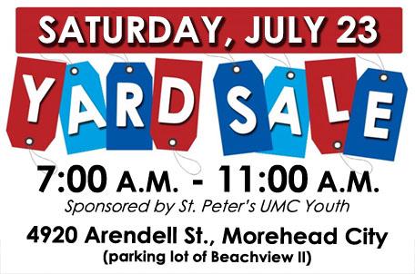456x302 Youth Yard Sale St. Peter's United Methodist Church