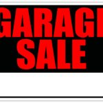 150x150 Garage Sale Signs Garage Sale Lawn Sell Sign Red Yard Sale Signs