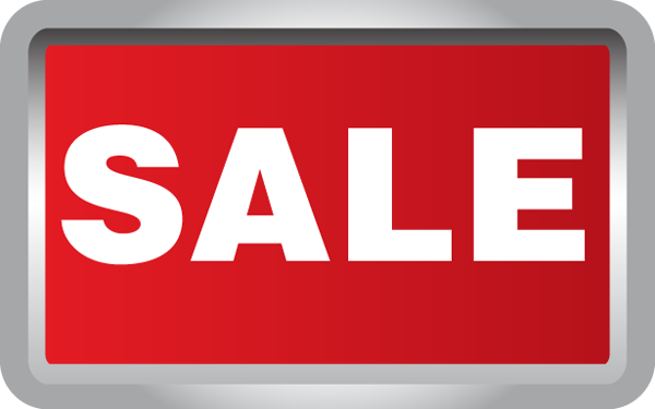 600x375 Free Clipart Sale Sign