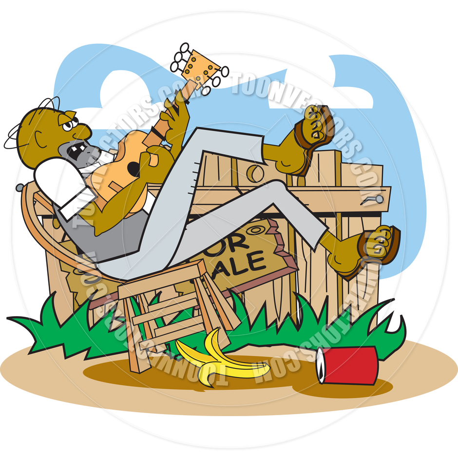 940x940 Cartoon Hillbilly Vector Illustration By Clip Art Guy Toon