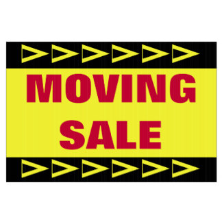 324x324 Moving Sale Yard Amp Lawn Signs Zazzle