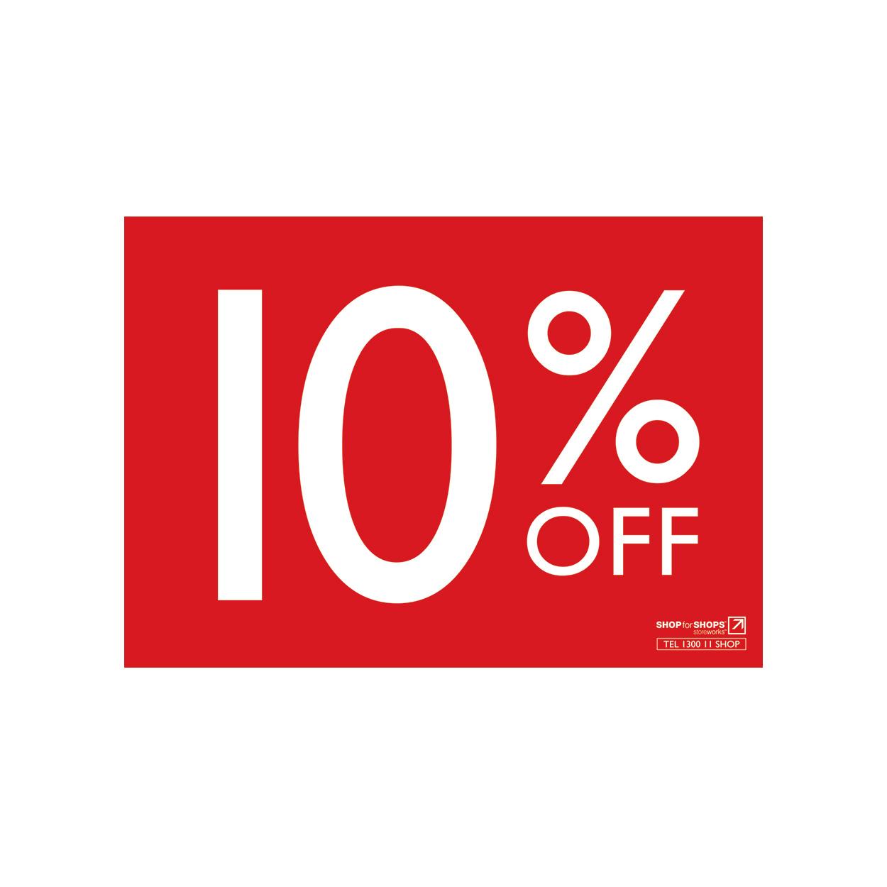 1250x1250 A4 Landscape Sign 10% Off 297 W X 210mm H Shop For Shops