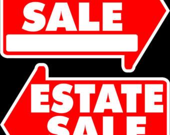 340x270 Yard Sale Sign Etsy