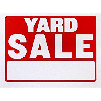 350x350 Yard Sale Sign Kit 1 18 X 24