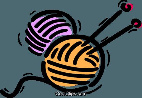 480x333 Knitting Yarn Wool Royalty Free Vector Clip Art Illustration