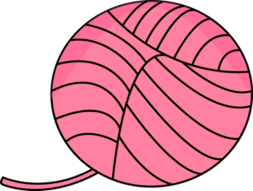 500x379 Pink Ball Of Yarn Clip Art