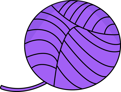 500x379 Purple Ball Of Yarn Clip Art