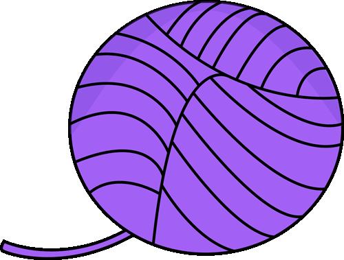500x379 Purple Ball Of Yarn Clip Art