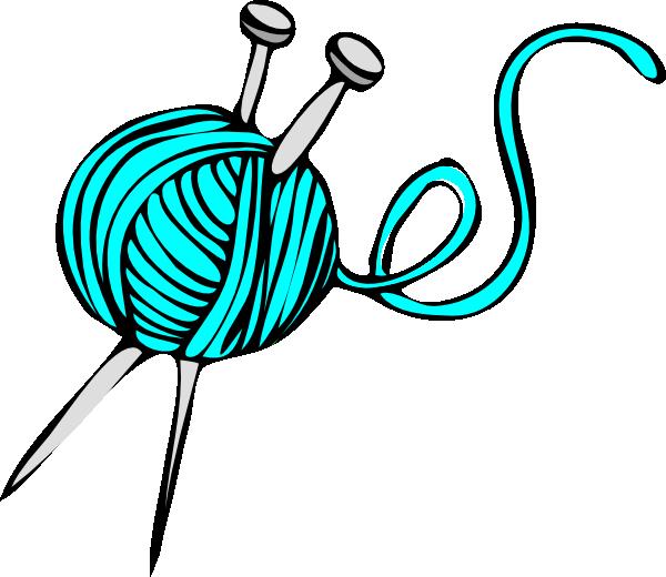 600x520 Turquoise Yarn Clip Art