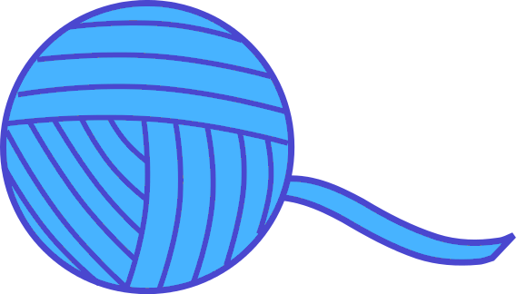 569x324 Yarn Ball Blue Clip Art Download