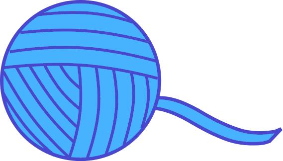 569x324 Yarn Ball Blue Clip Art Download
