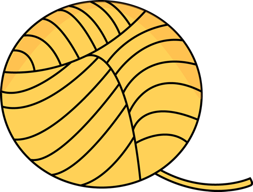500x379 Yellow Ball Of Yarn Clip Art