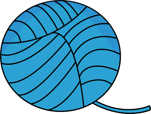 500x379 Blue Ball Of Yarn Clip Art