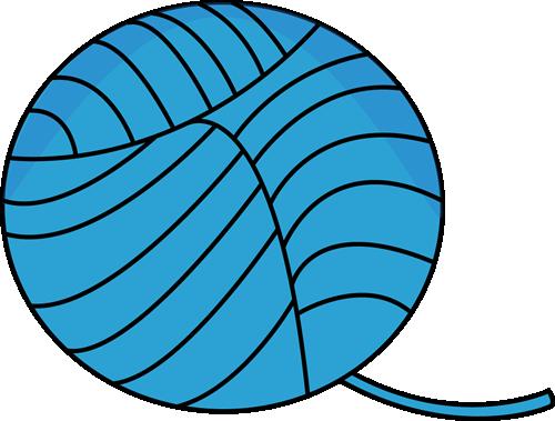 500x379 Blue Ball Of Yarn Clip Art
