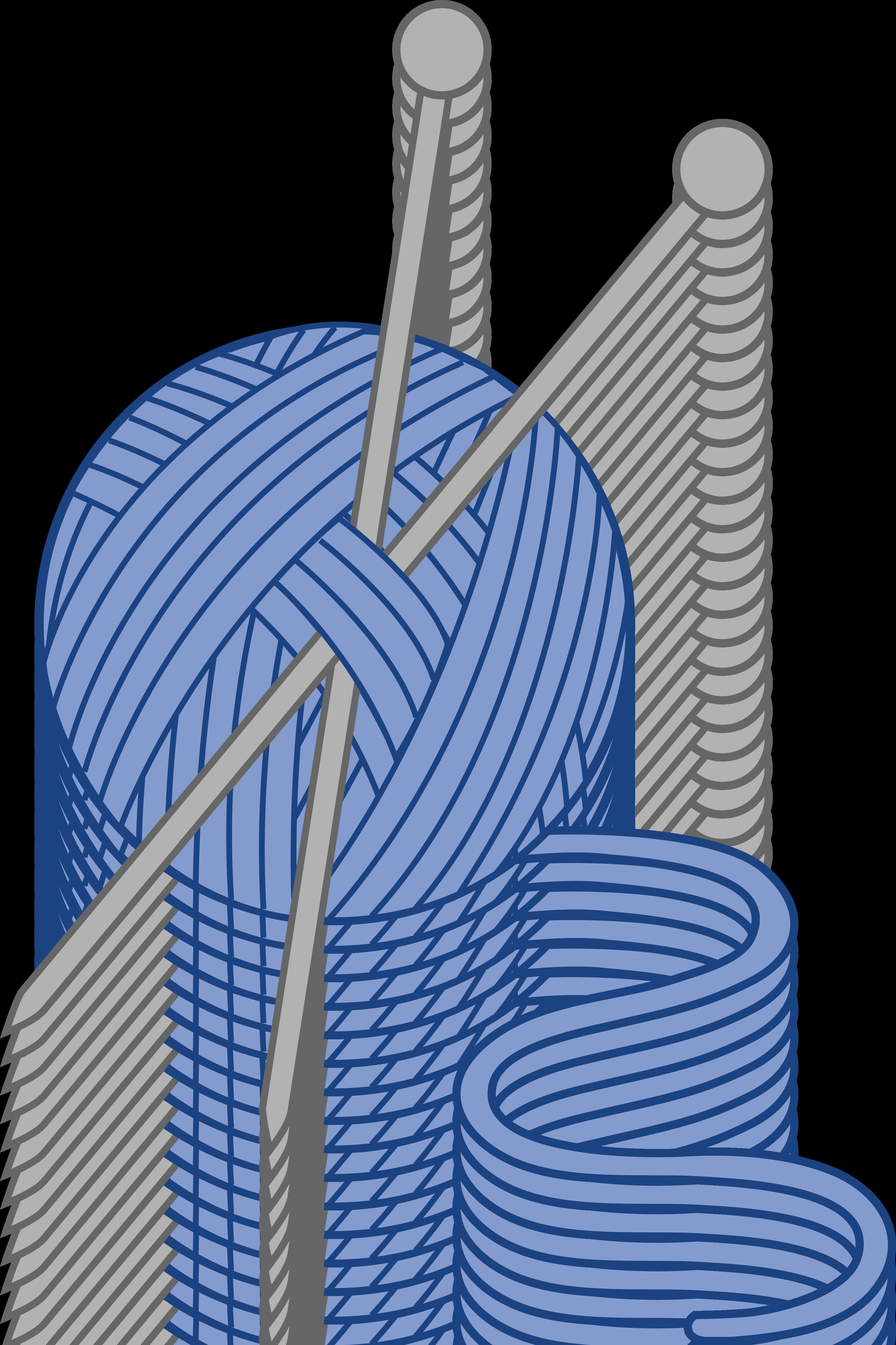 3206x4809 Blue Yarn And Knitting Needles