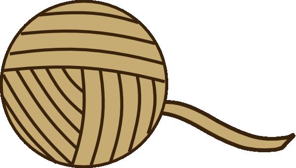600x341 Brown Yarn Clip Art