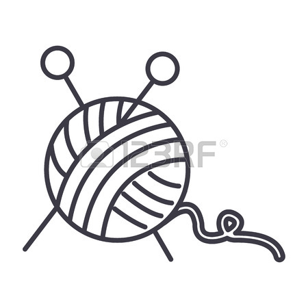 Yarn Clipart Black And White