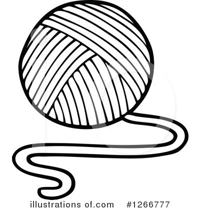 400x420 Yarn Clipart Black And White