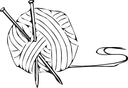 425x293 Black And White Clipart Yarn