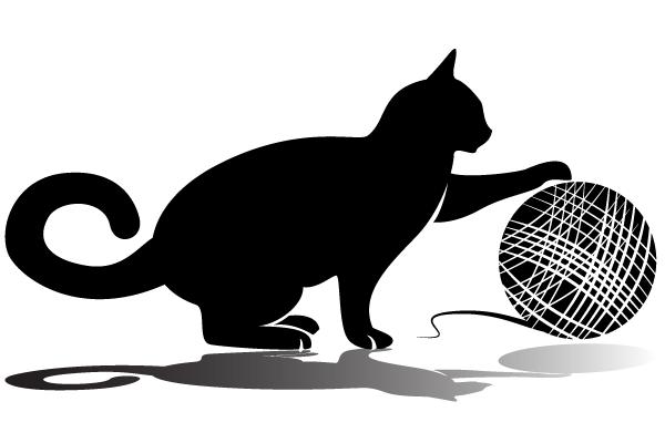 600x400 Cat Yarn Clip Art