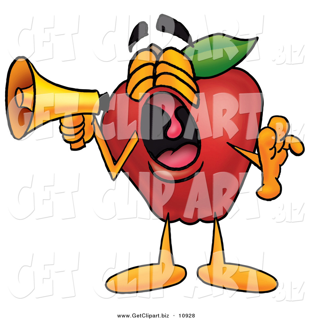 1024x1044 Cliprt Of Yawning Redpple Character Mascot Screaming Into