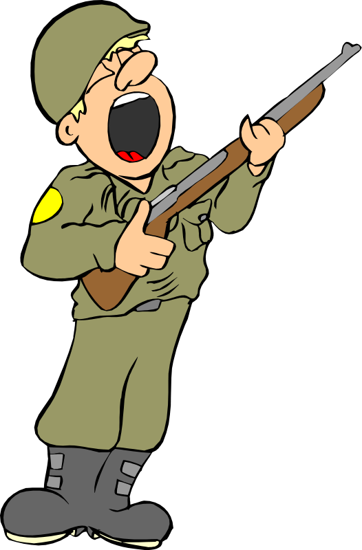 526x800 Free Cartoon Yawning Soldier Clip Art