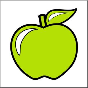 304x304 Clip Art Colors Apple 06 Yellow Green Color I