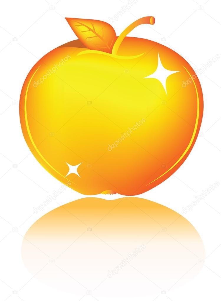 750x1023 Golden Apple Stock Vector Tajim1