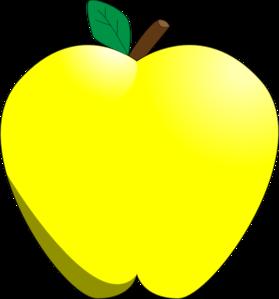 279x299 Yellow Apple Clip Art