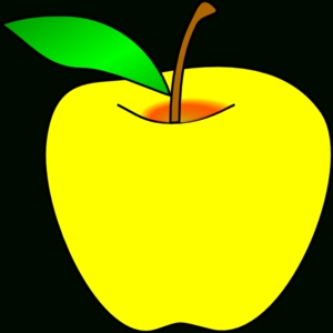 300x300 Yellow Apple Clipart Letters Example