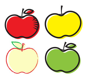 300x269 Yellow Apple Clipart Royalty Free Stock Image