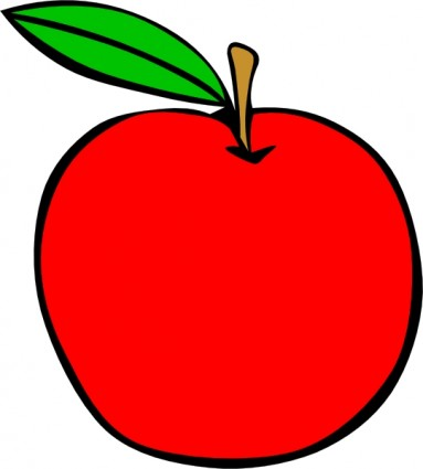 383x425 Green Apple Clipart Clipart Apple Yellow Apple Vector Art Free