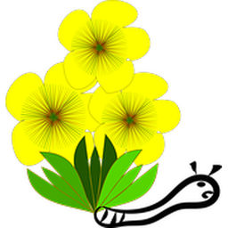 256x256 Plant Clipart Yellow Bell