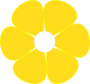 Yellow Bell Flower Clipart_