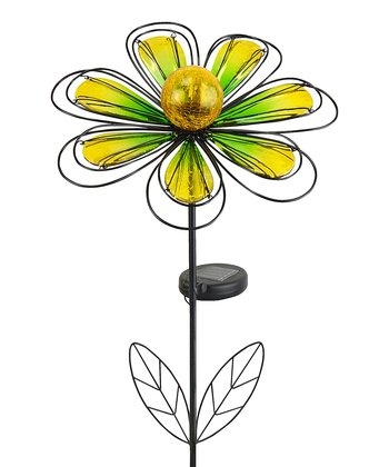 350x420 Echo Valley Yellow Bell Flower Kaleidolight Solar Stake Zulily