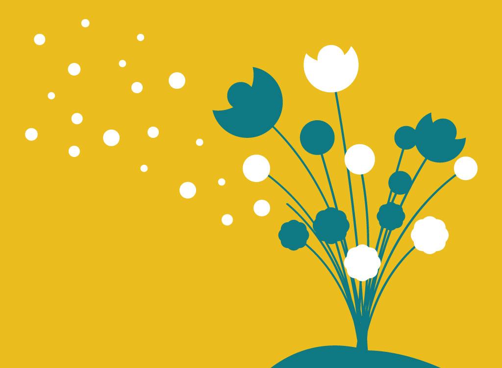 1024x750 Flower Silhouette Clipart