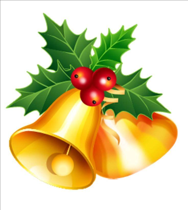 736x822 Holiday Bells Clip Art