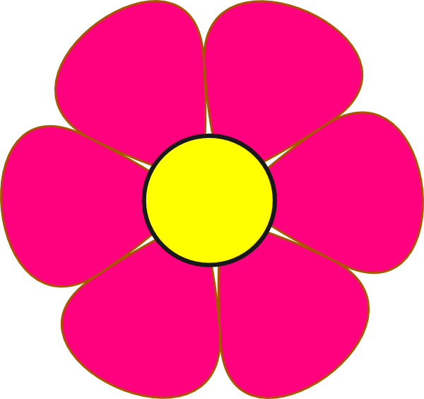 600x564 Yellow And Pink Flower Clipart