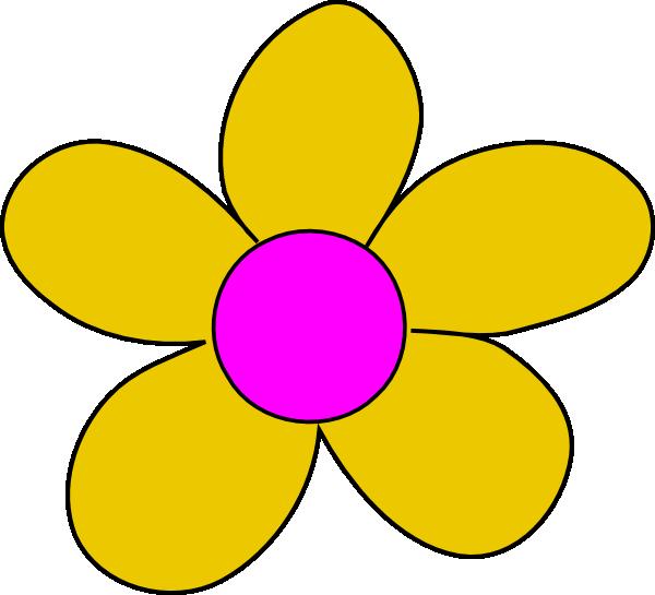 600x545 Yellow Flower Clip Art