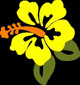 277x297 Yellow Hibiscus Flower Clipart