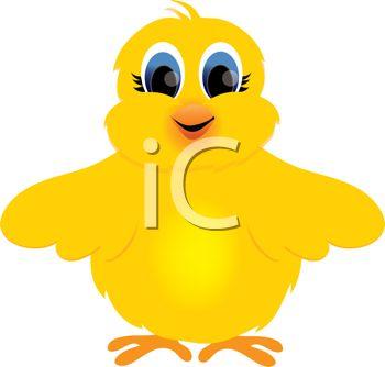350x334 Cartoon Clipart Of A Cute Fuzzy Yellow Bird