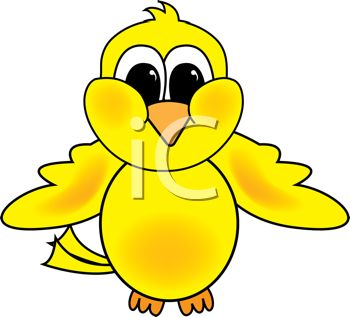 350x317 Clipart Illustration Of A Yellow Bird